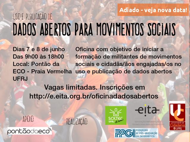 Inscreva-se: Oficina de Dados Abertos e Movimentos Sociais – Nova Data