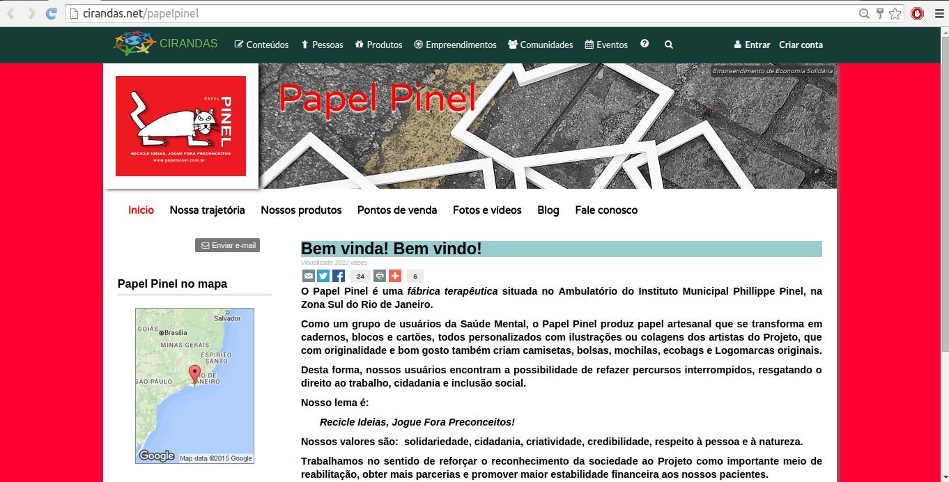 Cirandas: site de empreendimentos com visual bacana e com produtos do comércio justo