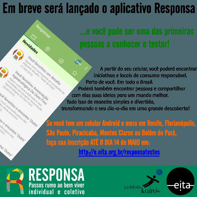 Participe dos testes do aplicativo Responsa!